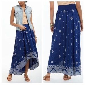 Anthropologie Floreat High Low Skirt